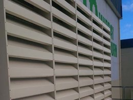 Flexshield's acoustic louvres meet ventilation, noise control and aesthetic goals at processing plant