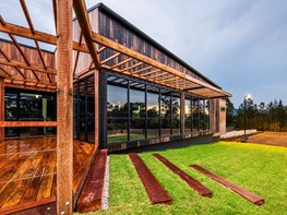 The contemporary cellar door giving visitors a taste of nature