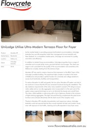 Ultra-modern Flowcrete Terrazzo floor transforms UniLodge Foyer