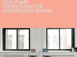 Heat pump technology for underfloor heating