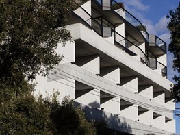 Inside SJB's exposed concrete residential fortress