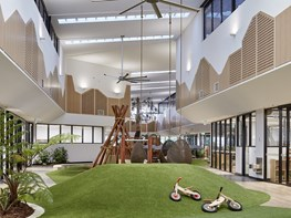 Childcare centre turns Brisbane heritage building into inverted garden