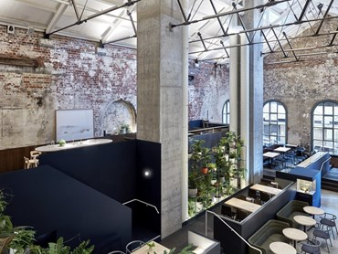 The reimagined former power station is today an all-day hospitality destination in Melbourne's CBD