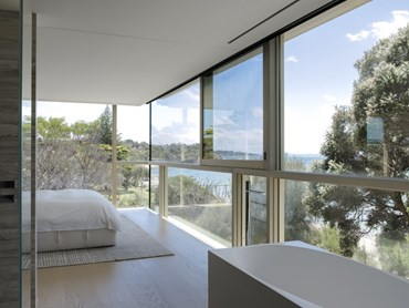 Sorrento beach house with low E glass facade