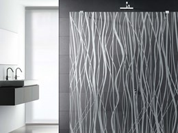 New satin-etched patterned glass from Italy