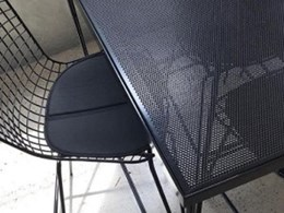 Get creative with leftover steel panels and mesh
