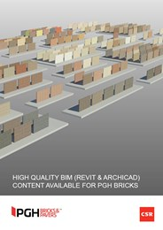 High quality BIM (Revit & ARCHICAD) content available for PGH Bricks