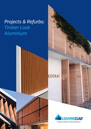 Upgrade your facade with innovative timber-look aluminium screens