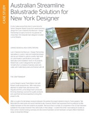 Australian streamline balustrade solution for New York designer