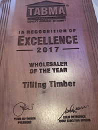 Tilling NSW wins TABMA Wholesaler of the Year 2017