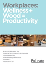 Driving workplace wellness and productivity with timber