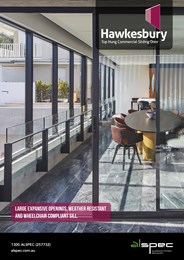 Hawkesbury Top Hung Sliding Door from Alspec balances compliance, style and performance
