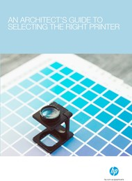 An architect's guide to selecting the right printer