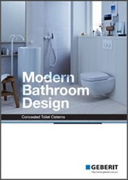 Modern bathroom design: Concealed toilet cisterns