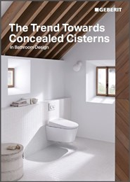 The trend towards concealed cisterns in bathroom design