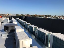 A sleek, seamless high performance noise solution on inner-city rooftop
