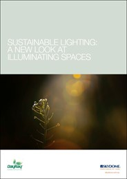 Sustainable lighting: A new look at illuminating spaces