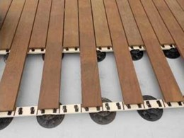 Clip JuAn fastening system saving time during terrace building