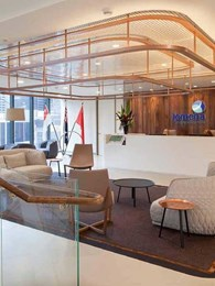 Concealed weight bearing ceiling engineered with Studco products for Melbourne office