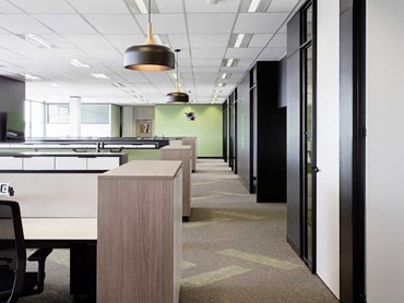 Carpets Inter EcoSoft plank carpet tiles at the Visy office