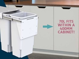 New Hideaway Compact bins offering more storage in small spaces