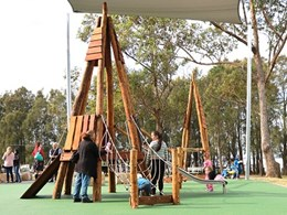 Kanahooka community playground equipped with Moduplay play systems