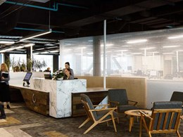 Hanging screens provide elegant space separation in Christchurch office fitout