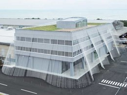 Kengo Kuma uses new carbon fibre composite to reinforce buildings against quakes