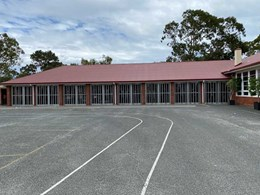 ATDC's commercial grade folding closures securing Perth public school