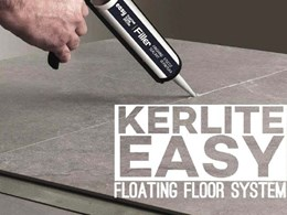 New Kerlite Easy floating floor system for quick and easy renovations