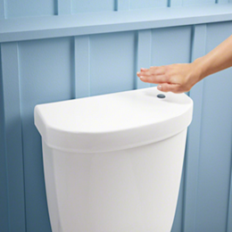 Kohler's touchless technology offers a more hygienic way to flush your home toilet