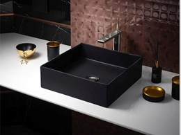 Black making a style statement in bathrooms