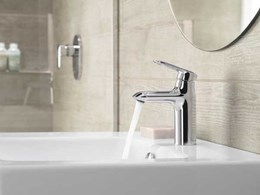 Kohler's new Kumin tapware collection combines design, performance and affordability