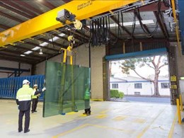 Case Study: Viridian Trade Centre deploys Konecranes CXT crane to handle glass safely and accurately