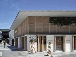 Kookai Pacific Fair gets a beach vibe with DecoWood finish louvres