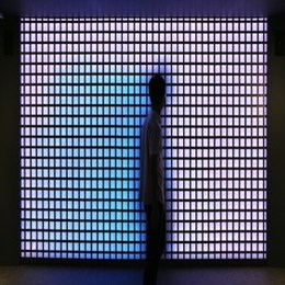 Interactive LED façade changes colour based on human movement