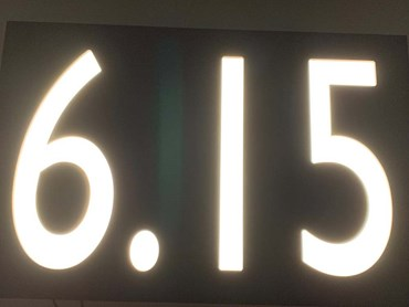 Custom fabricated LED numbers