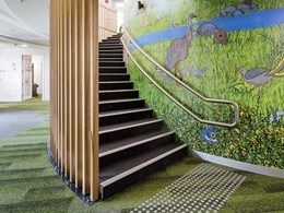 Choice of carpet tiles at Lowther Hall school inspired by nature