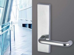 New Legge Marine Series door furniture by Allegion in stainless steel