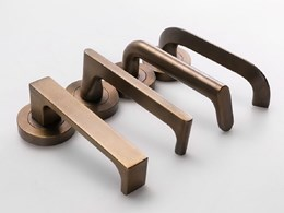 Lockwood Brass Core door levers in unique styles
