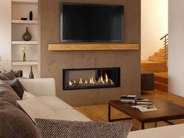 Lopi's new double sided gas fireplaces heating up two living areas at once