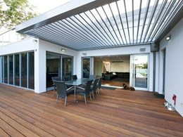 Outdoor entertaining through the year with a Louvretec opening roof