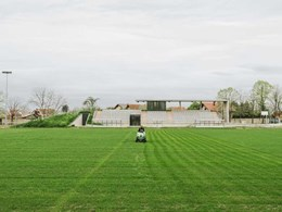 Bricks reused in reconstruction of football stadium in rural Croatia