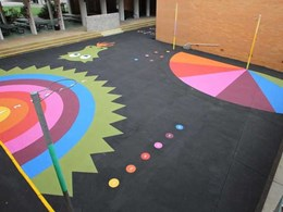 MPS StreetBond coatings recommended for schools to create visual play and exercise spaces