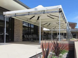 Celmec's heated shade umbrellas bring warmth and atmosphere to Mulgrave Country Club patrons