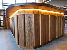 London restaurant's 70s theme brought to life with Tasmanian Blackwood