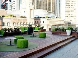 Recycled timber brings warmth and character to Martin Place, Sydney