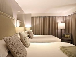 Bespoke panelling with Easycraft's easygroove profile features in Mayfair Hotel room design