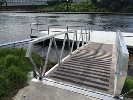 Grip Guard's carborundum non slip safety plates for ramps