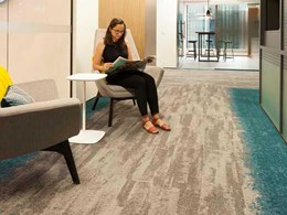 Contemporary workspace created for global firm with Signature carpets